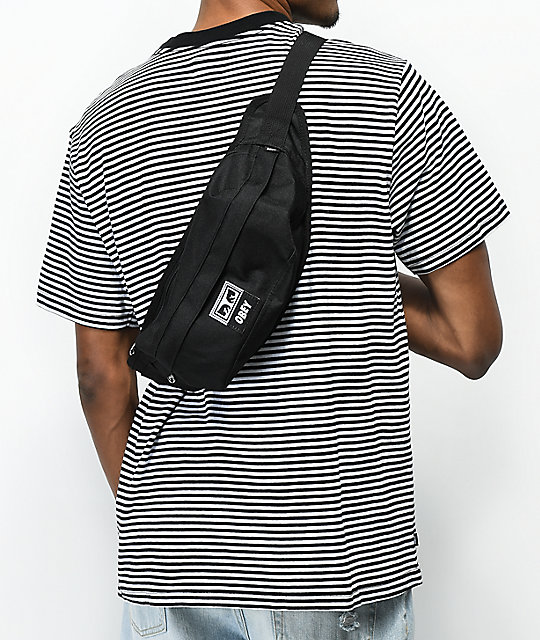 015aaecc7d ... Obey Drop Out Black Sling Pack ...