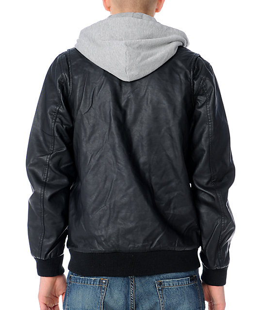 Obey Easton Black Bomber Jacket