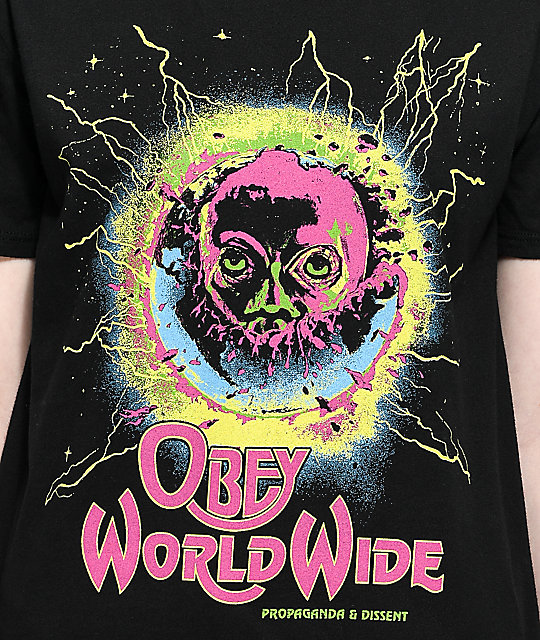 Obey End Of The World camiseta negra