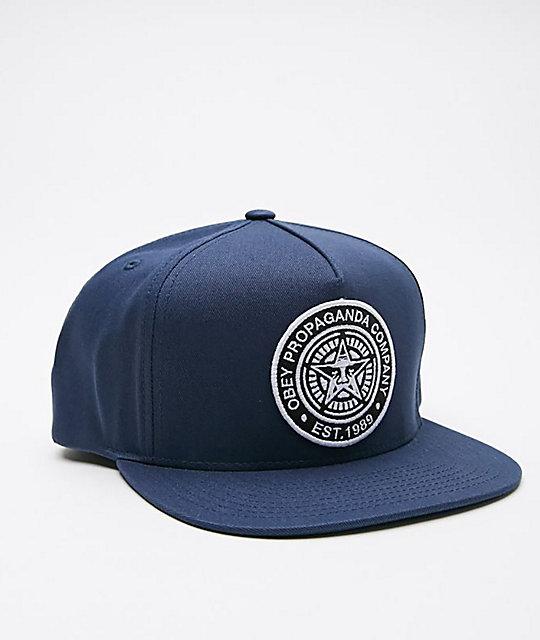 b02f722773f65f Obey Established 89 Navy Snapback Hat | Zumiez.ca