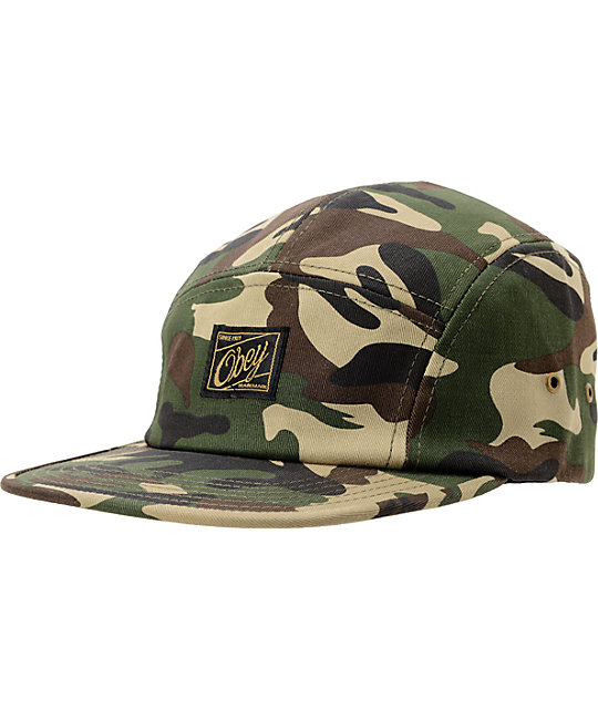 a7cf3f8c48b Obey Expedition Camo 5 Panel Hat