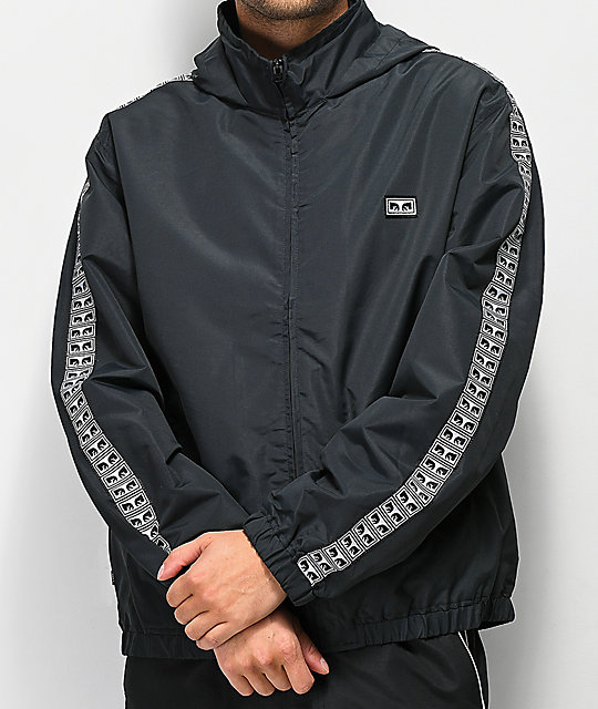 Obey Eyes Black Track Jacket
