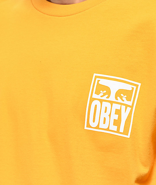 Obey Eyes Icon Gold T-Shirt