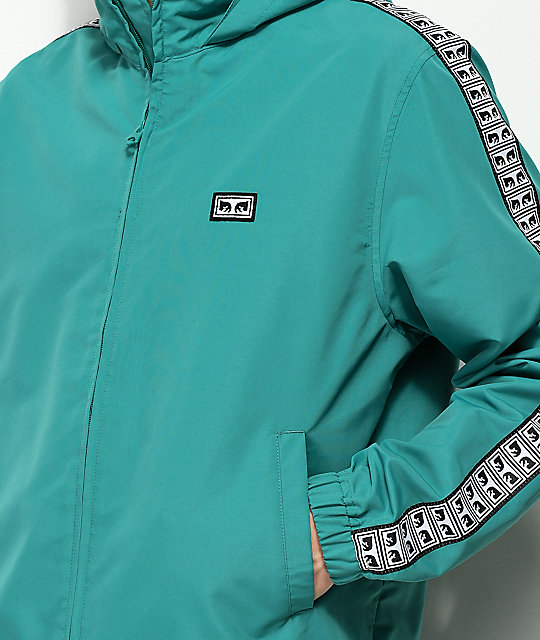 Obey Eyes Teal Track Jacket