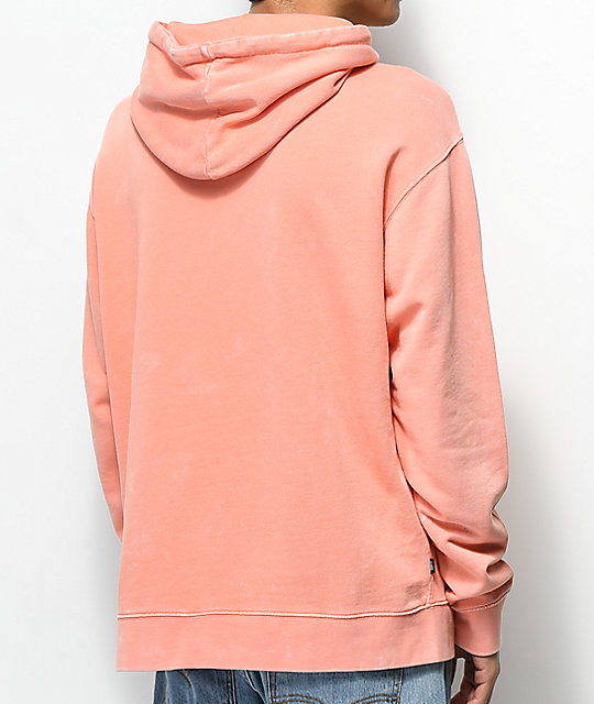Obey Faded Coral Pigment Hoodie