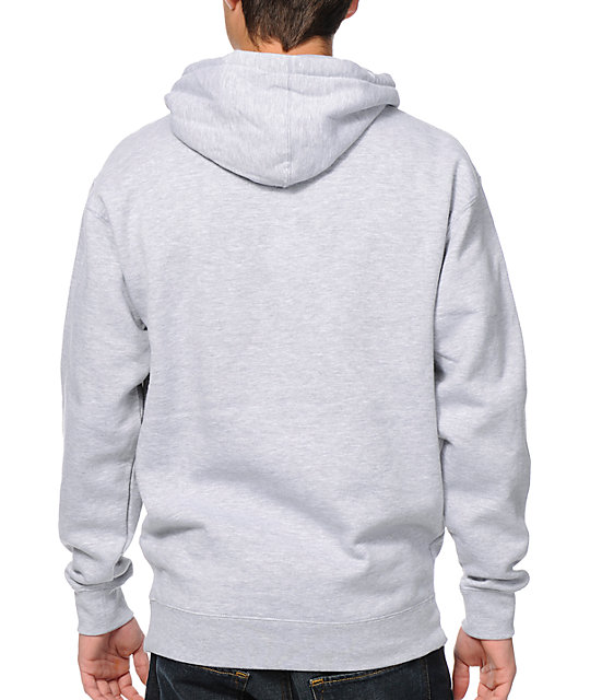 Obey Faster Times Heather Grey & Hawaiian Print Pullover Hoodie