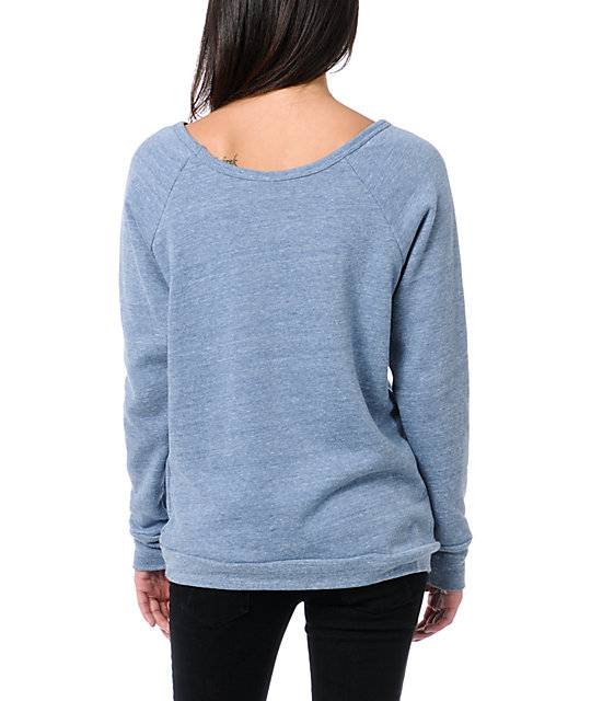 Obey Finest Anchor Blue Vandal Crew Neck Sweatshirt