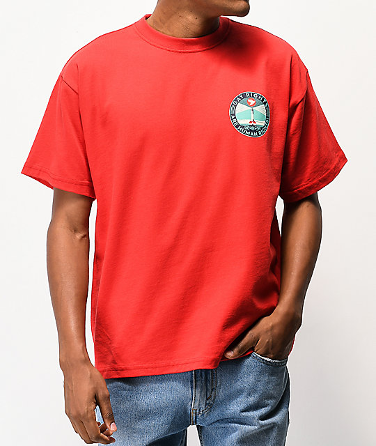 Obey Fire Island Red T-Shirt
