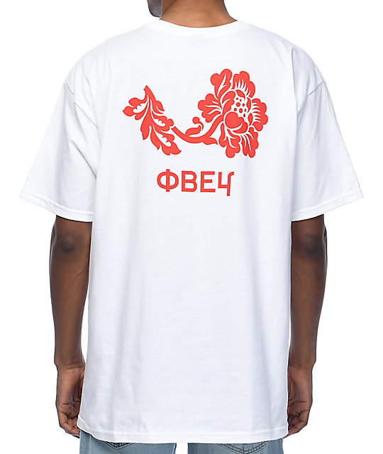 Obey Flower White T-Shirt