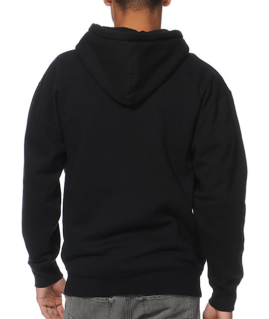 Obey Font Black Pullover Hoodie
