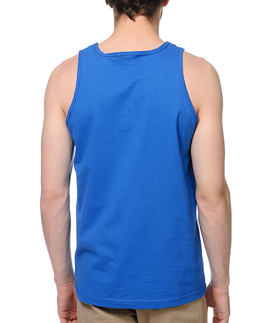 Obey Font Royal Blue Tank Top