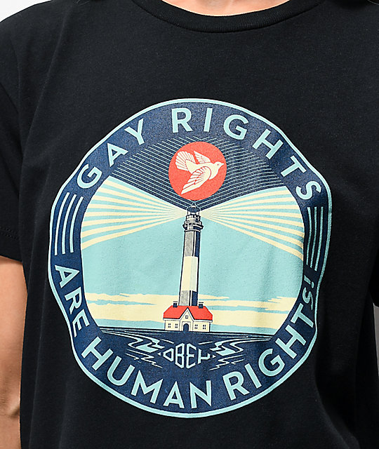 Obey Gay Rights Awareness Black T-Shirt