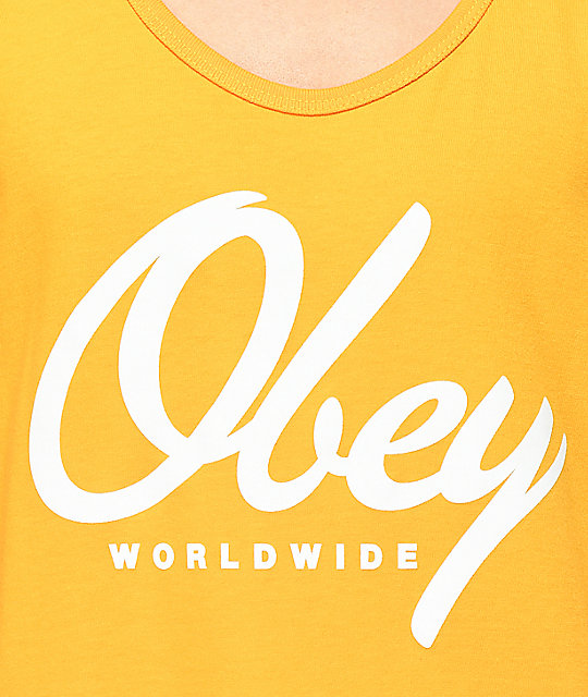 Obey Get Me Like Gold Tank Top