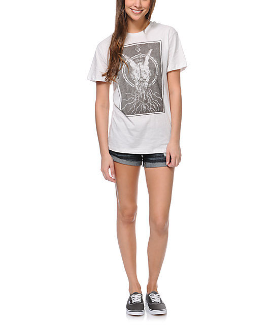 Obey Ghost Skull Natural Tomboy T-Shirt