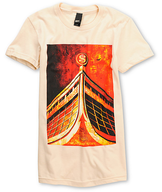 Obey Glass House Classic Cream T-Shirt