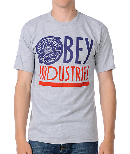 Obey Global Industries Heather Grey T-Shirt