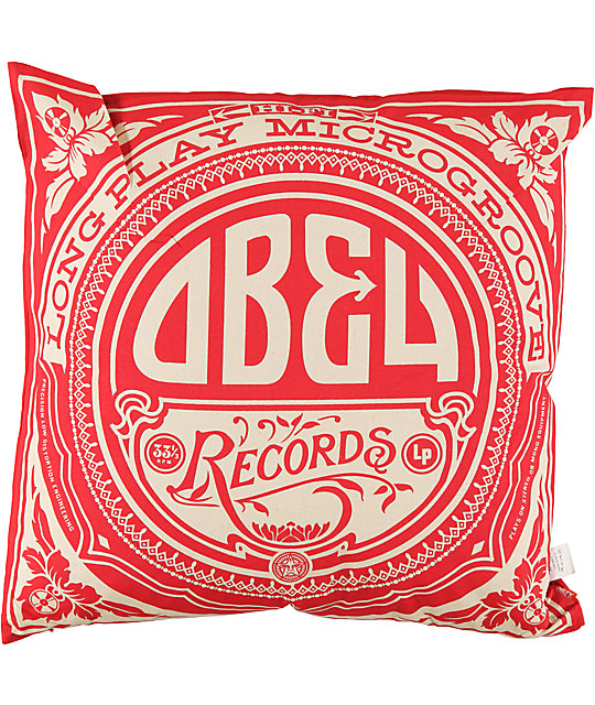 Obey Gold Label Red White Throw Pillow Zumiez
