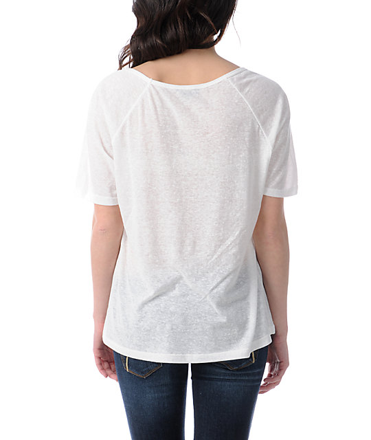 Obey Griffin Wave Nubby White Raglan T-Shirt
