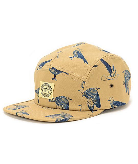 Obey Gulls Khaki 5 Panel Hat  d3f52592b1b