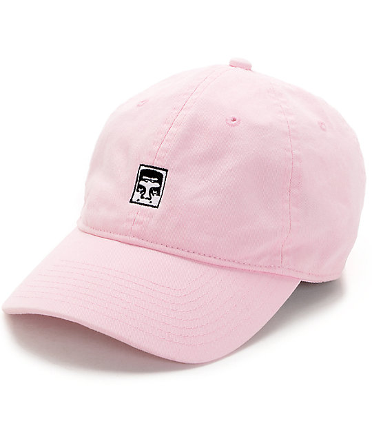 4d0c7837148 Obey Half Face Icon Pink Strapback Hat