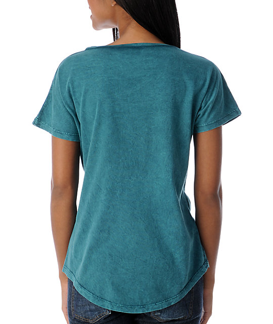 Obey Hidden Valley Mineral Green Dolman T-Shirt