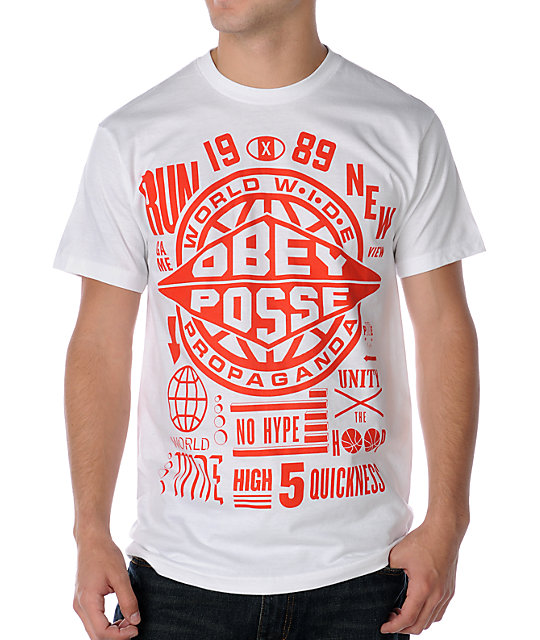 Obey Hyped Up White T-Shirt