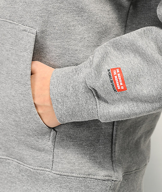 Obey Icon Face Heather Grey Hoodie