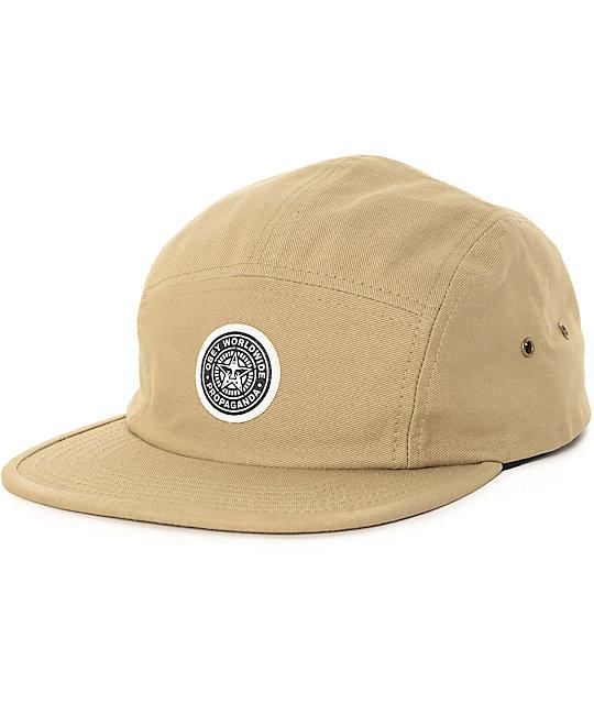 Obey Icon Khaki 5 Panel Hat  20061d88e79