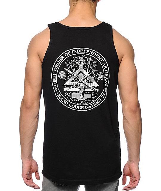 obey independent artist black tank top