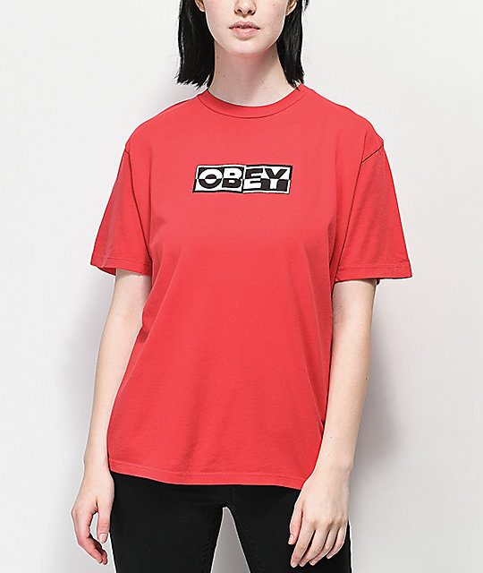 Obey Inside Out 2 Red T-Shirt