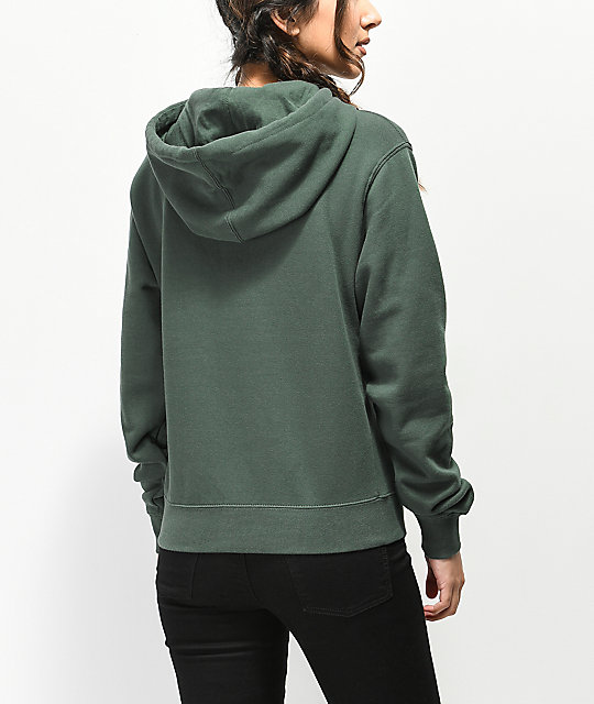 Obey Inside Out 4 Forest Green Hoodie