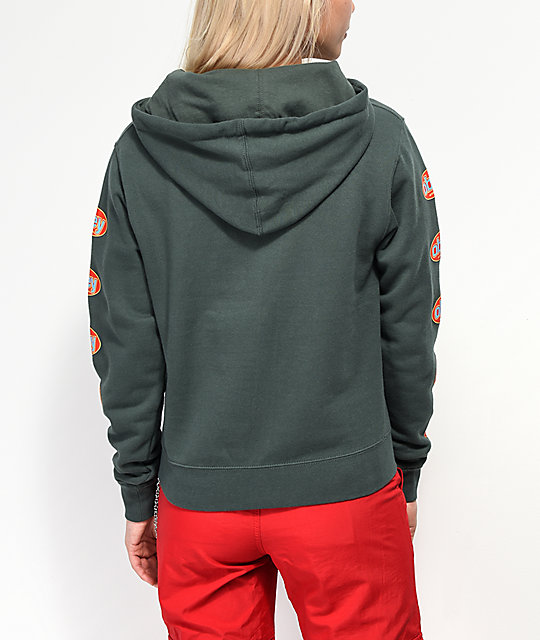 Obey International 3 Forest Green Hoodie