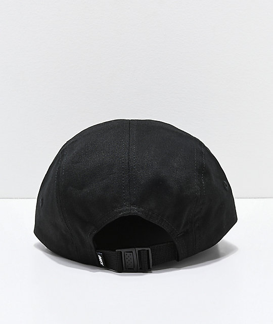 Obey International Black Strapback Hat
