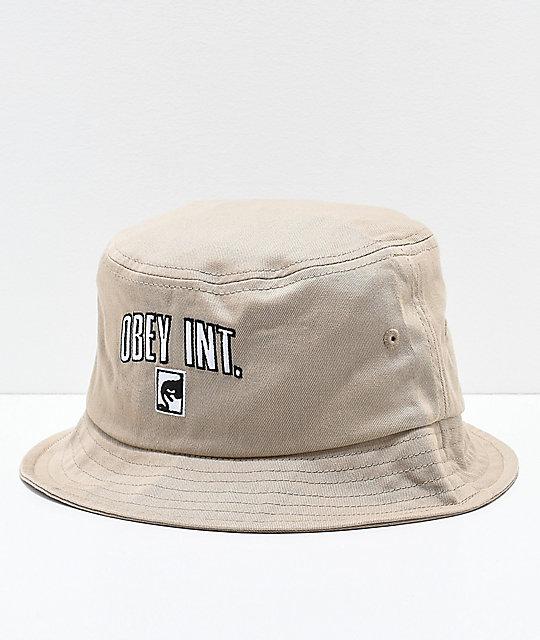 0be1822db71 Obey International Khaki Bucket Hat