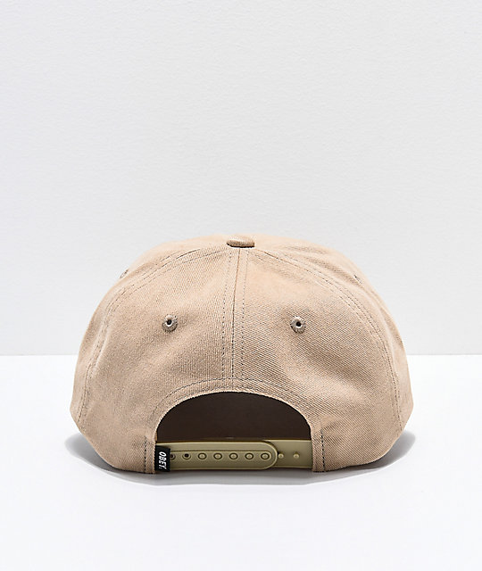 4cd861623dd Obey International Khaki Snapback Hat  Obey International Khaki Snapback Hat