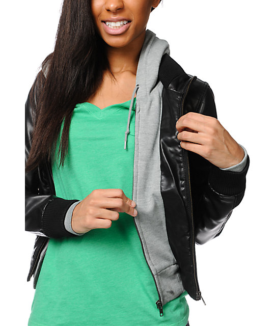 Obey Jealous Lover Black & Grey Bomber Jacket