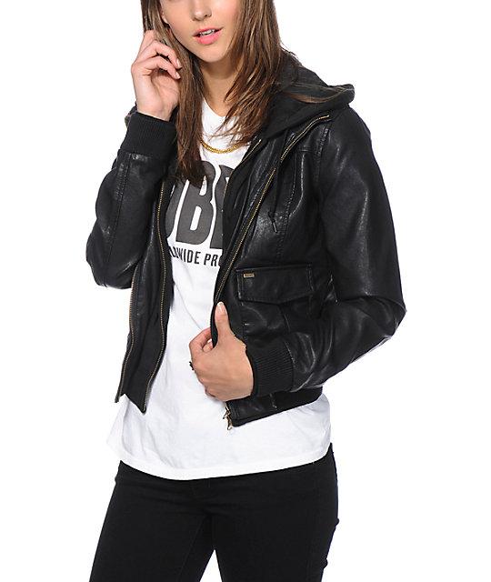 Obey Jealous Lover Vintage Black Bomber Jacket Zumiez