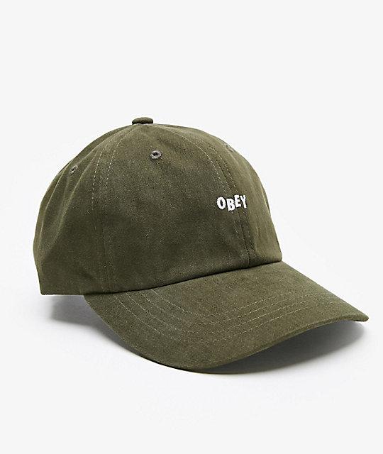 Obey Jumble Bar III Army Strapback Hat ... df0397586ec2