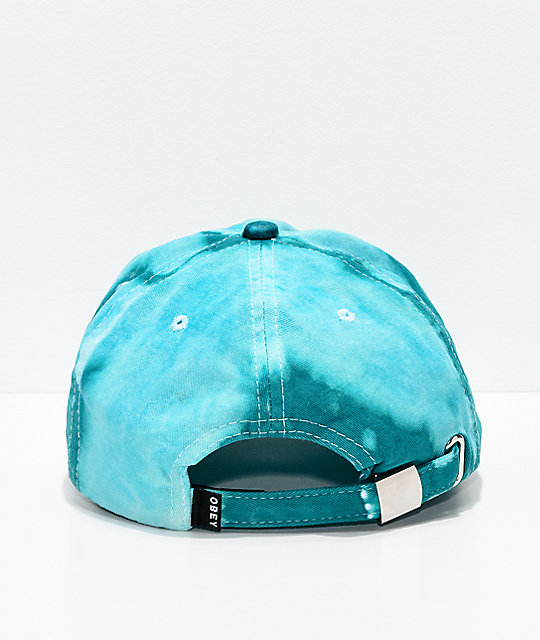 Obey Jumble Bleached Teal Strapback Hat
