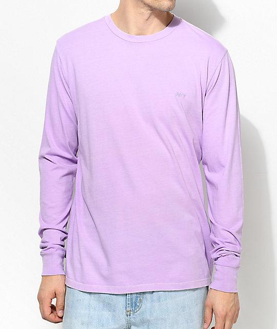 8033c8dd7fc1 Obey Jumble Lavender Long Sleeve Shirt   Zumiez.ca