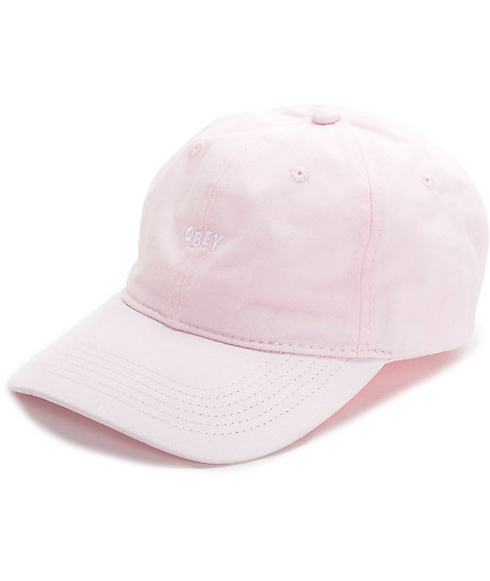 ce275064ad7 Obey Jumble Pink Pigment Dad Hat