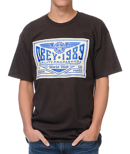 Obey Kings Trademark Brown T-Shirt