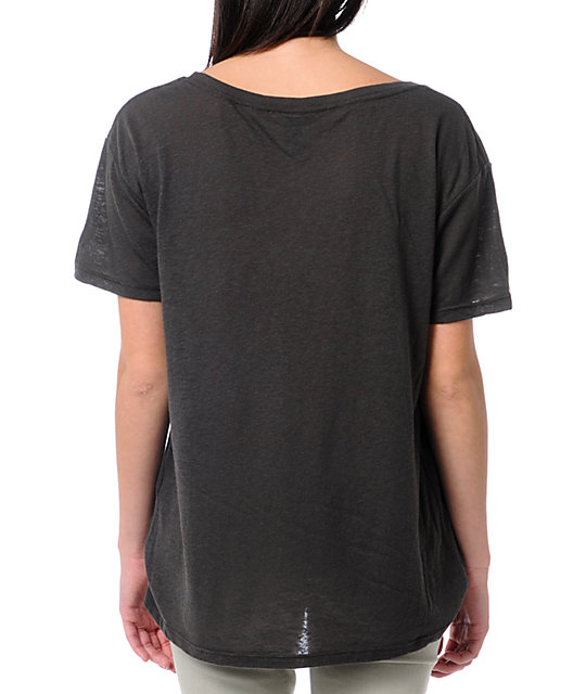 Obey LA Charcoal Grey Nubby Throwback T-Shirt