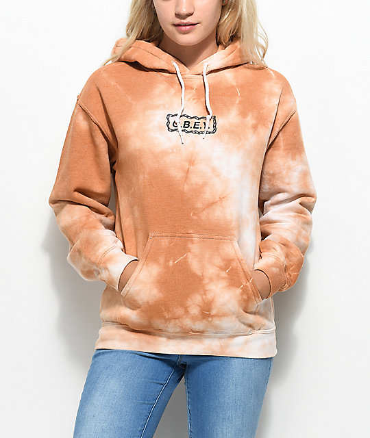 Obey Labour Of Love Caramel Tie Dye Hoodie
