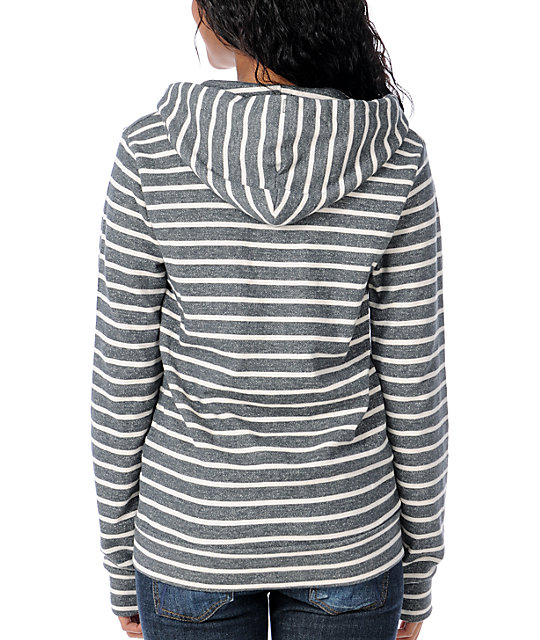 Obey Light Years Charcoal Stripe Zip Up Hoodie