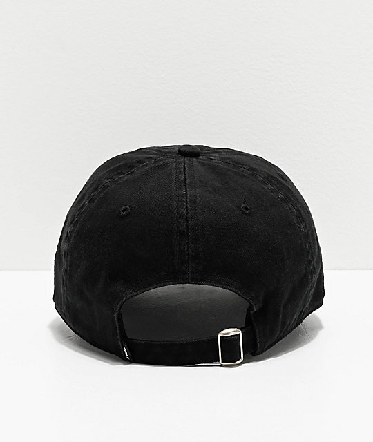 Obey Lined Out Black Strapback Hat