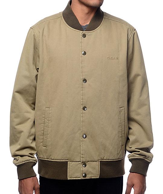 comprar online sitio oficial bien baratas Obey Linesman chaqueta bomber en color verde militar