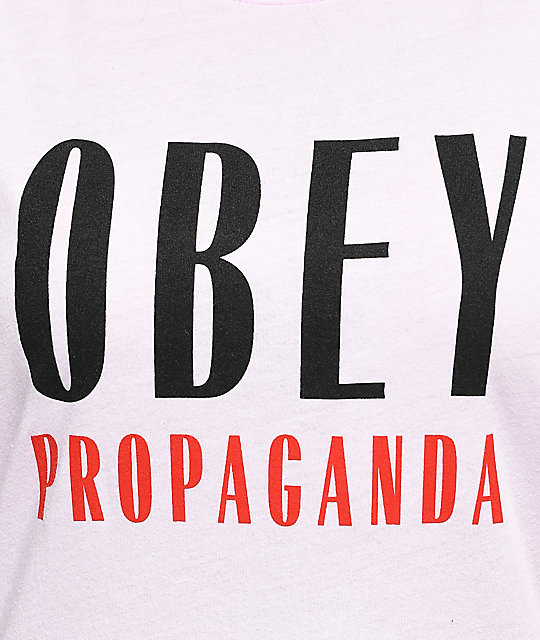 Obey Main Street Light Pink T-Shirt