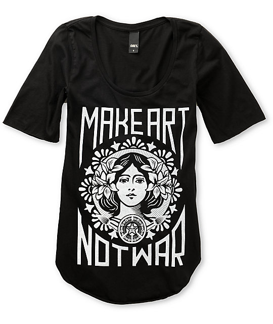 Obey Make Art Not War Dance T-Shirt