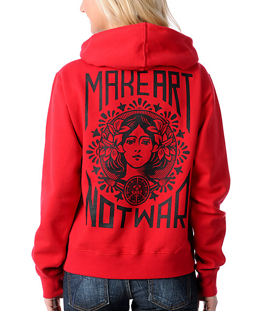 Obey Make Art Not War Pullover Hoodie